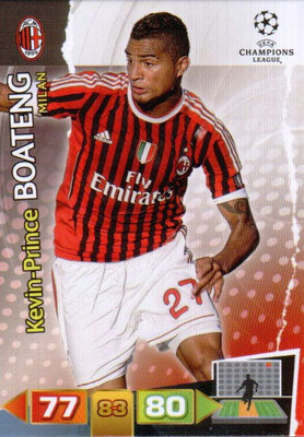 2011-12 - Panini Champions League Cards - N° 167 - Kevin-Prince BOATENG (Milan AC)