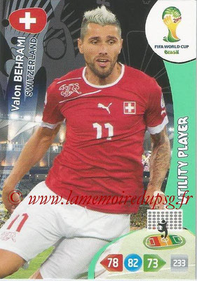 2014 - Panini FIFA World Cup Brazil Adrenalyn XL - N° 299 - Valon BEHRAMI (Suisse) (Utility Player)