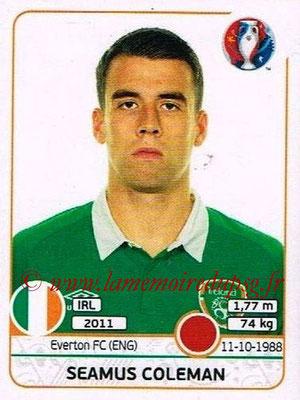 Panini Euro 2016 Stickers - N° 521 - Seamus COLEMAN (République d'Irlande)
