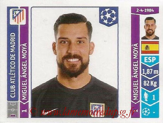 2014-15 - Panini Champions League N° 037 - Miguel Angel MOYA (Atletico Madrid)