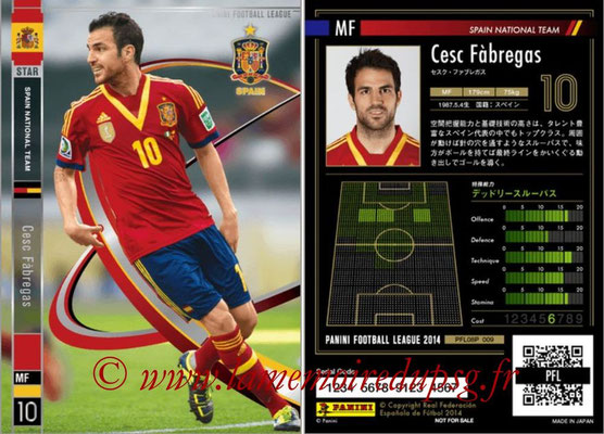 Panini Football League 2014 - PFL08P - N° 009 - Cesc FABREGAS (Espagne) (Star)