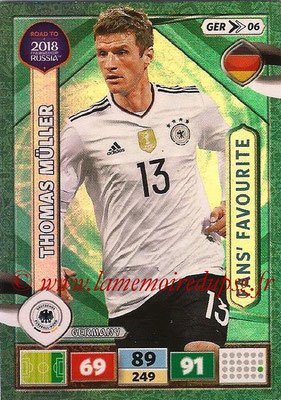 2018 - Panini Road to FIFA World Cup Russia Adrenalyn XL - N° GER06 - Thomas MÛLLER (Allemagne) (Fans' Favourite)