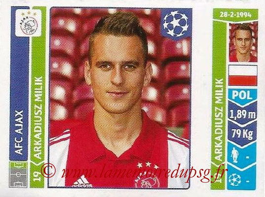 2014-15 - Panini Champions League N° 470 - Arkadiuz MILK (AFC Ajax)
