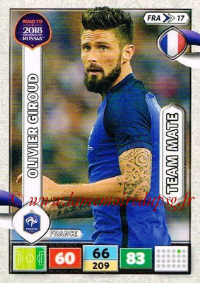 2018 - Panini Road to FIFA World Cup Russia Adrenalyn XL - N° FRA17 - Olivier GIROUD (France)