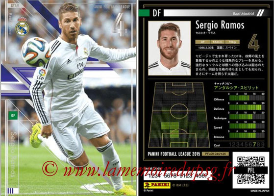 Panini Football League 2015 - PFL09 - N° 044 - Sergio RAMOS (Real Madrid) (Star)