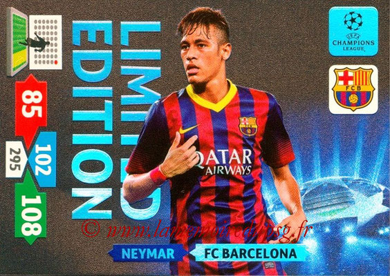 2013-14 - Adrenalyn XL champions League N° LE10 - NEYMAR Jr (FC Barcelone) (Limited Edition)