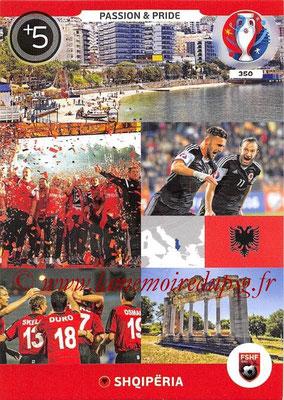 Panini Euro 2016 Cards - N° 350 - Passion and Pride de Albanie