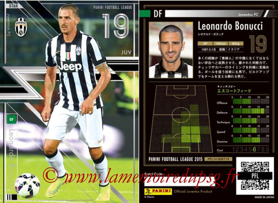 Panini Football League 2015 - PFL14 - N° 009 - Leonardo BONUCCI (Juventus FC) (Star)