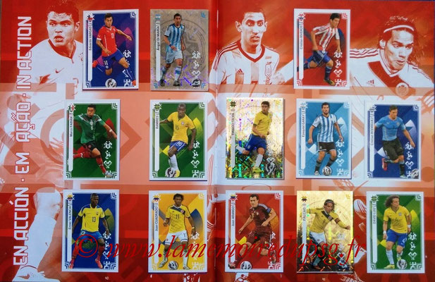 Panini Copa America Chile 2015 Stickers - Pages 40 et 41 - En action
