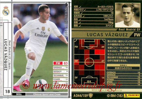 2015-16 - Panini WCCF - N° A044 - Lucas VAZQUEZ (Real Madrid CF)