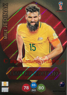 2018 - Panini FIFA World Cup Russia Adrenalyn XL - N° LE-MJ - Mile JEDINAK (Australie) (Limited Edition)
