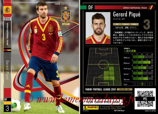 Panini Football League 2014 - PFL08P - N° 008 - Gerard PIQUE (Espagne) (Star)