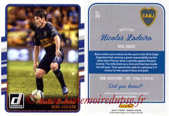2016 - Panini Donruss Cards - N° 046 - Nicolas LODEIRO (CA Boca Juniors)