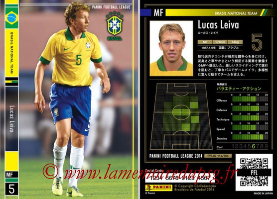 Panini Football League 2014 - PFL07 - N° 114 - Lucas LEIVA (Bresil)