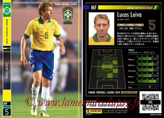 Panini Football League 2014 - PFL07 - N° 114 - Lucas LEIVA (Bresil)