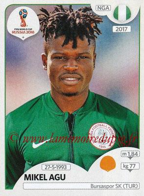 2018 - Panini FIFA World Cup Russia Stickers - N° 345 - Mikel AGU (Nigeria)