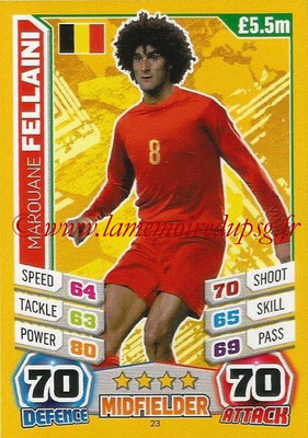Topps Match Attax England 2014 - N° 023 - Marouane FELLAINI (Belgique)