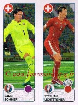 Panini Euro 2016 Stickers - N° 096 - Yann SOMMER + Stephan LICHTSTEINER (Suisse)