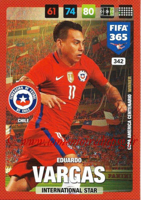 2016-17 - Panini Adrenalyn XL FIFA 365 - N° 342 - Eduardo VARGAS (Chili) (International Star)