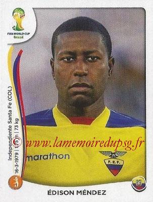 2014 - Panini FIFA World Cup Brazil Stickers - N° 363 - Edison MENDEZ (Equateur)