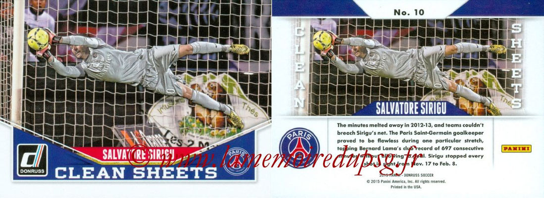 N° CS10 - Salvatore SIRIGU (Clean Sheets)