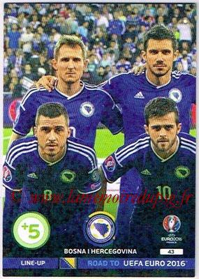Panini Road to Euro 2016 Cards - N° 043 - Equipe Bosnie Herzegovine 1