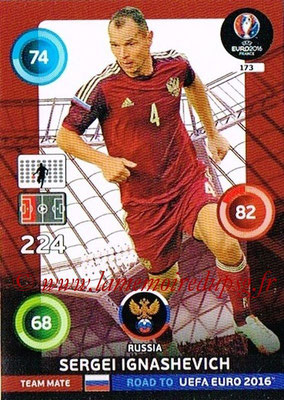 Panini Road to Euro 2016 Cards - N° 173 - Sergei IGNASHEVICH (Russie)