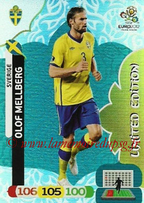 Panini Euro 2012 Cards Adrenalyn XL - N° LE46 - Olof MELLBERG (Suède) (Limited Edition)
