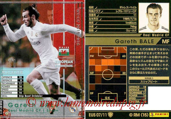 2015-16 - Panini WCCF - N° EUS07 - Gareth BALE (Real Madrid CF) (European Superstars)