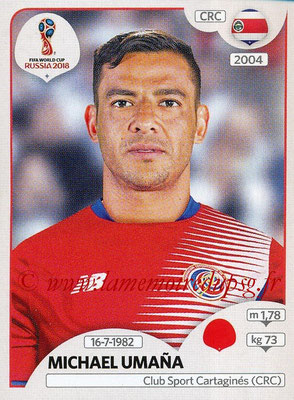 2018 - Panini FIFA World Cup Russia Stickers - N° 401 - Michael UMANA (Costa Rica)