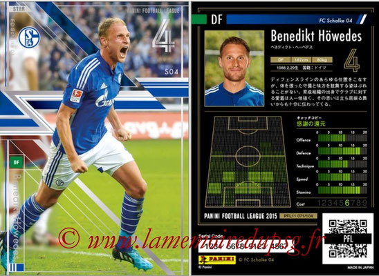 Panini Football League 2015 - PFL11 - N° 071 - Benedikt HÖWEDES (FC Schalke 04) (Star)