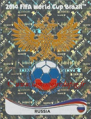 2014 - Panini FIFA World Cup Brazil Stickers - N° 602 - Ecusson Russie