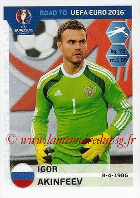 Panini Road to Euro 2016 Stickers - N° 257 - Igor AKINFEEV (Russie)