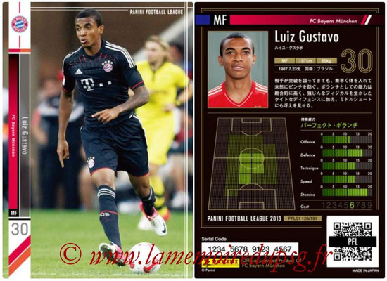 Panini Football League 2013 - PFL01 - N° 128 - Luiz Gustavo ( FC Bayern Munchen )