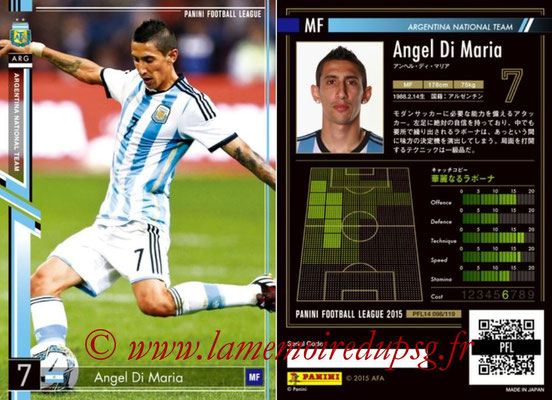 Panini Football League 2015 - PFL14 - N° 098 - Angel DI MARIA (Argentine)