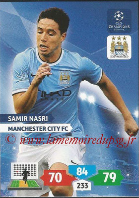 2013-14 - Adrenalyn XL champions League N° 166 - Samir NASRI (Manchester City FC)