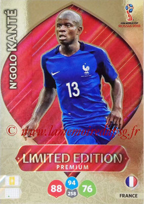 2018 - Panini FIFA World Cup Russia Adrenalyn XL - N° LE-NK - N'Golo KANTE (France) (Limited Edition Premium)