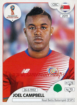 2018 - Panini FIFA World Cup Russia Stickers - N° 409 - Joel CAMPBELL (Costa Rica)
