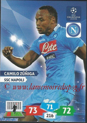 2013-14 - Adrenalyn XL champions League N° 193 - Camilo ZUNIGA (SSC Napoli)