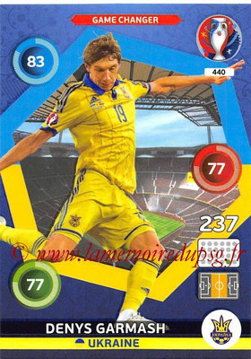 Panini Euro 2016 Cards - N° 440 - Denys GARMASH (Ukraine) (Game Changer)