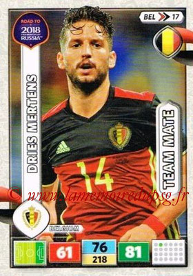 2018 - Panini Road to FIFA World Cup Russia Adrenalyn XL - N° BEL17 - Dries MERTENS (Belgique)
