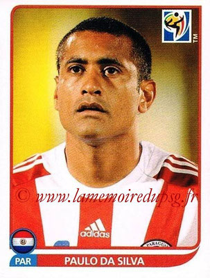 2010 - Panini FIFA World Cup South Africa Stickers - N° 433 - Paulo DA SILVA (Paraguay)