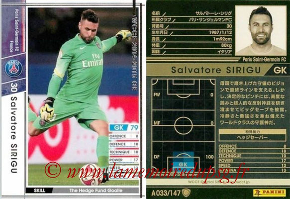 2014-15 - WCCF - N° A033 - Salvatore SIRIGU (Paris Saint-Germain)