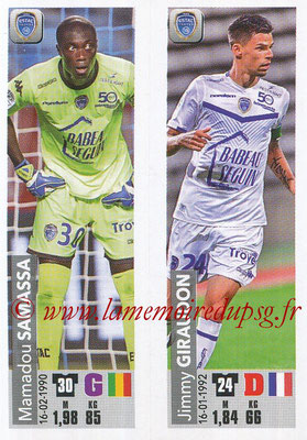 2018-19 - Panini Ligue 1 Stickers - N° 558 - Mamadou SAMASSA + Jimmy GIRAUDON (ESTAC Troyes)