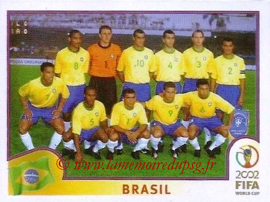 2002 - Panini FIFA World Cup Stickers - N° 169 - Equipe Brésil