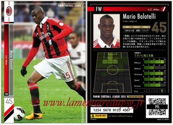 Panini Football League 2013 - PFL03 - N° 007 - Mario Balotelli (Milan AC)