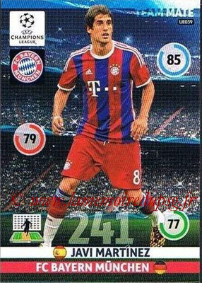 2014-15 - Adrenalyn XL champions League Update edition N° UE039 - Javi MARTINEZ (Bayern Munich)