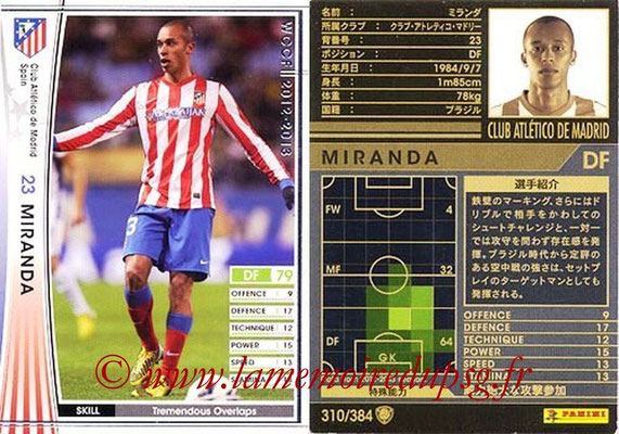 2012-13 - WCCF - N° 310 - MIRANDA (Atletico  Madrid)