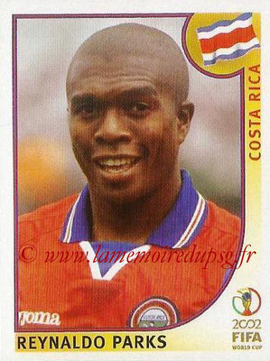 2002 - Panini FIFA World Cup Stickers - N° 227 - Reynaldo PARKS (Costa Rica)
