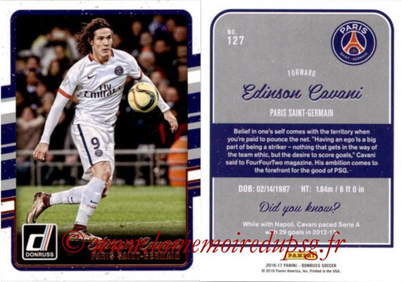 2016 - Panini Donruss Cards - N° 127 - Edinson CAVANI (Paris Saint-Germain)
